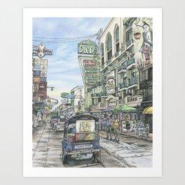 One day in Bangkok Art Print