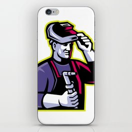 Welder Welding Torch Mascot iPhone Skin
