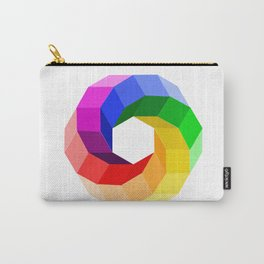 Illusion color wheel forming a hexagon Carry-All Pouch