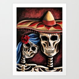 The day of the Dead Art Print