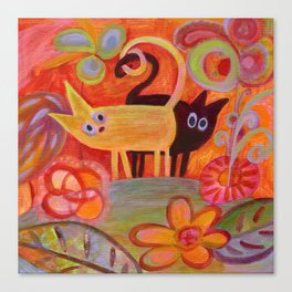 cats and tails Canvas Print
