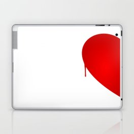 Half Heart Woman Laptop & iPad Skin