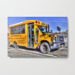 American School Bus Metal Print