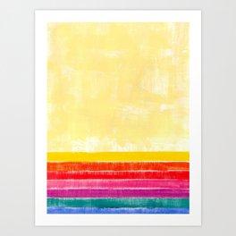 Abstract rainbow pattern in acrylic Art Print