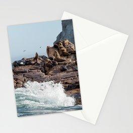 en las rocas Stationery Cards