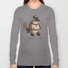 platypus in boots Long Sleeve T-shirt