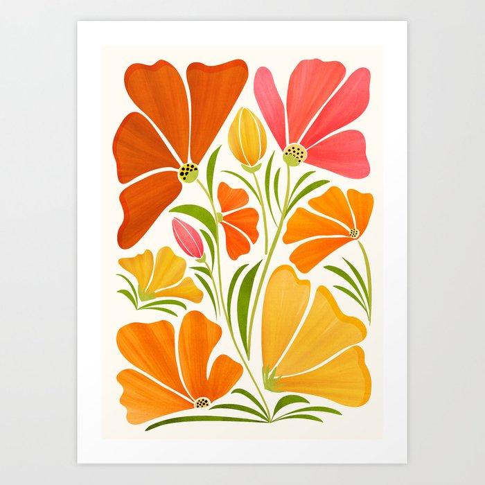 Spring Wildflowers / Floral Illustration Art Print
