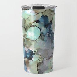 Alcohol Ink Sea Glass Travel Mug