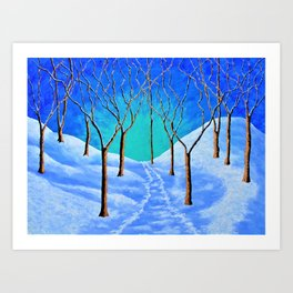 Winter Woods Art Print
