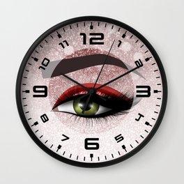 Glam diamond lashes eye #2 Wall Clock
