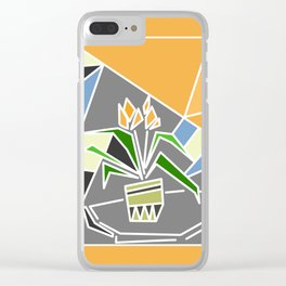 Flowers on window Clear iPhone Case