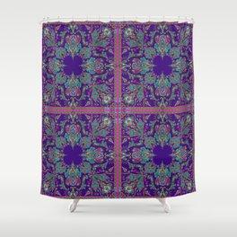 Purple Gipsy Paisley Shower Curtain