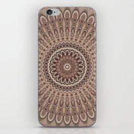 Cappuccino mandala iPhone Skin