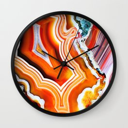 The Vivid Imagination of Nature, Layers of Agate Wall Clock