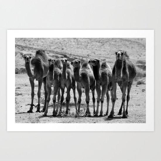 Happy Big Nice Family   (b/w) Art Print