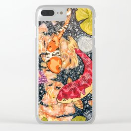Koi Galaxy Clear iPhone Case