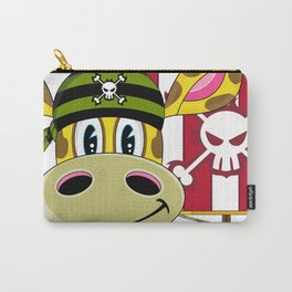 Giraffe Pirate Wanted Poster Carry-All Pouch
