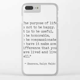 Ralph Waldo Emerson awesome quote 6 Clear iPhone Case