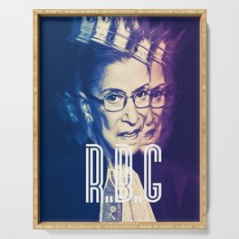 RBG Ruth Bader Ginsburg Fight For The Things You Care About Serving Tray