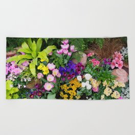 Floral Spectacular - Spring Flower Show Beach Towel