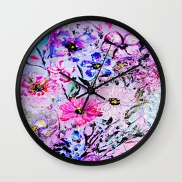 Spring Flower Garden Wall Clock