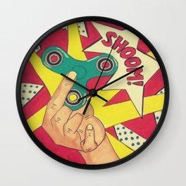 Lichtenstein Fidget Spinner Wall Clock