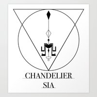 sia Art Prints featuring Chandelier Sia  by Sebastian A