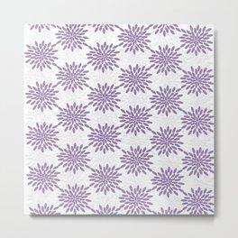 Purple and Lavender on White Metal Print