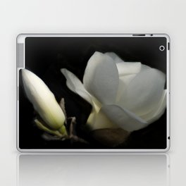 Yulan-Magnolia and bud on black -2- Laptop & iPad Skin