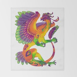 Oaxacan Barn Owl Dragon Throw Blanket