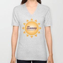 Simple Graphic Sunny Thoughts Orange Sun Unisex V-Neck