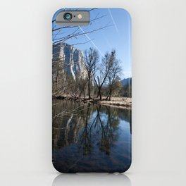 Mountain Reflection in the Merced River iPhone Case