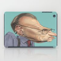 larry iPad Cases featuring Larry King by Patrick Dea