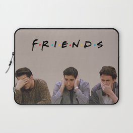 The One with Joey, Ross and Chandler face's. Laptop Sleeve