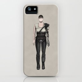 Furiosa without a face (MadMax) iPhone Case