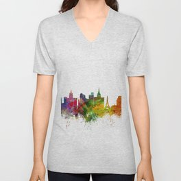 Las Vegas Nevada Skyline Unisex V-Neck