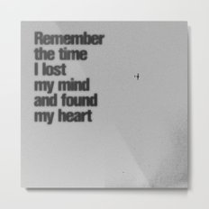 Remember The Time... Metal Print