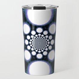 Space Galaxy Abstract Tie Dye Glow Travel Mug