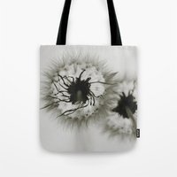 coconut wishes Tote Bags featuring Wishes by Skye Zambrana