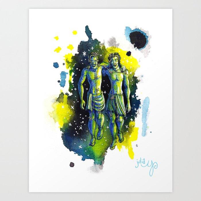 Gemini- the Twins- Zodiac Art Print