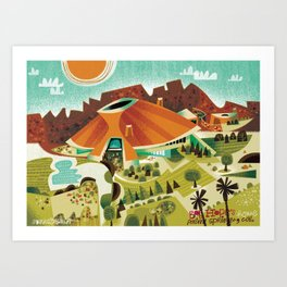 Bob Hope's House, Palm Springs Art Print