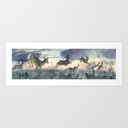 The Sunrise race Art Print