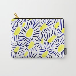 Blue Daisies Carry-All Pouch