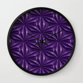 Engraved Surface Ultraviolet Wall Clock