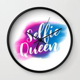 Selfie queen Wall Clock