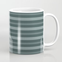 Scarborough Green PPG1145-5 Thick and Thin Horizontal Stripes on Night Watch PPG1145-7 Coffee Mug