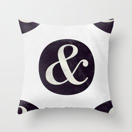 Bodoni Italic Ampersand Throw Pillow