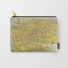 Vintage Bird's Eye Map Illustration - Greater Los Angeles, California (1932) Carry-All Pouch