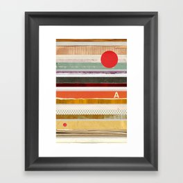Strips Framed Art Print