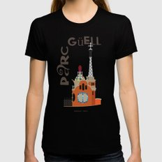 Parc Güell Black X-LARGE Womens Fitted Tee